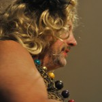 Llansteffan FC Chairman .....in drag.