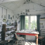 Workshed-Interior Laugharne Dylan Thomas Boathouse Houses.